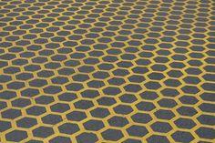 grey and yellow honeycomb