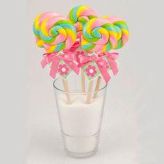Bubble Gum Swirl Lollipops -  24 Count