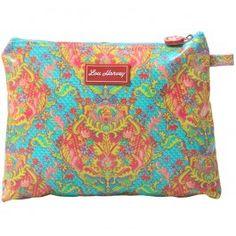 Lou Harvey Indian Summer large cosmetic bag vinyl covered, great for #summer #beachbags #waterproof