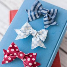 Craft adorable Denim Hair Bows to keep or give as gifts using the Cicut Explore Machine