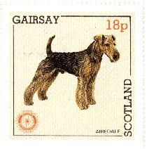 Airedale Terrier stamp from Scotland