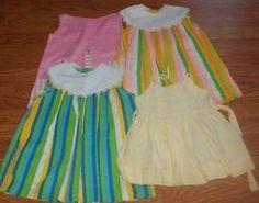 Vintage Lot of 4 Little Girls Sleeveless Jumper Dresses 1960's 70'S | eBay