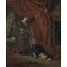Hamlet in Front of the Body of Polonius Eugene Delacroix (1798-1863French) Musee St Denis Rheims Canvas Art - Eugene Delacroix (24 x 36)