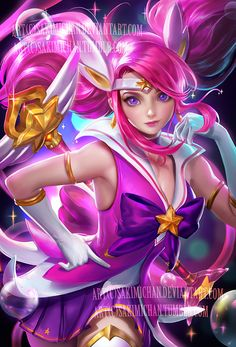 Star guardian Lux . NSFW available. by sakimichan