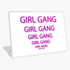 """GIRL GANG Purple to pink Gradient "" Laptop Skin by aventi24 | Redbubble Goth Art, Girl Gang, Laptop Skin, Fasion, Chiffon Tops, Print Design, Purple, Prints, Random"