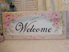 Image result for shabby chic welcome sign