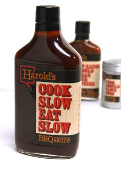 Creative Scribbles: Harold's BBQ Sauce  student design for a local BBQ joint