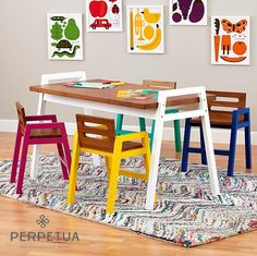 ®Perpetua muebles   #perpetua #muebles #madera #mesa #silla #comedor #banca #estudio #infantil #niños #juego #tareas  Más información o catálogo completo www.perpetuamuebles.com