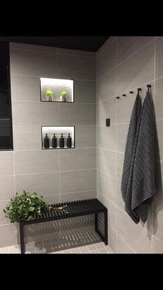 Towel Storage For Small Bathroom Bathroom Toilets, Laundry In Bathroom, Master Bathroom, Bathroom Inspo, Bathroom Inspiration, Bathroom Interior, Modern Cabin Interior, Sauna Design, Bad Inspiration