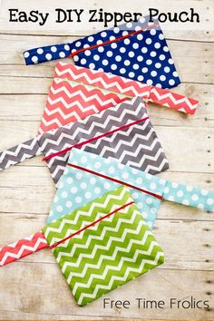 Easy DIY Zipper Pouch {Free Time Frolics Guest Post} - Mabey She Made It