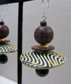 Earrings - Donna Kato queen of polymer clay designs