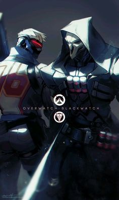 Soldier 76 and Reaper - Overwatch / Blackwatch Overwatch Memes, Overwatch Fan Art, Overwatch Genji, Faucheur Overwatch, Overwatch Reaper, Monster Boy, Mundo Dos Games, Overwatch Wallpapers, Ghost Rider