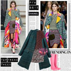 """""""PFW SS15 Trend Tweed Chanel"""" by stylepersonal on Polyvore"""