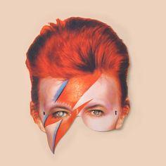 David Bowie Mask - Masks - Mamelok Papercraft - Embossed, diecut Victorian scrap reliefs, cards, masks, cards, friezes, garlands, dress-up dolls