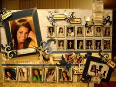 Senior Graduation Picture Boards | Creations from my heart: More Memories to Display...