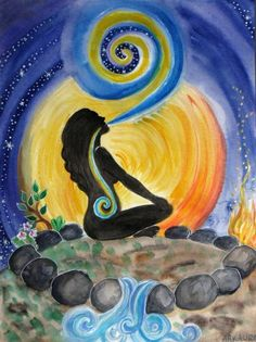 Breathwork helps you to heal in so many ways. This easy to learn breathing exercises ignites your internal desires to heal yourself and it also delivers relaxation and relief Yoga Kunst, Les Chakras, Mandala, Sacred Feminine, Yoga Art, Psychedelic Art, Illustration, Art Drawings, Images