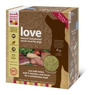Love is made with USDA inspected, hormone free beef and is 100% human-grade, made in the USA, and does not contain corn, soy, rice, beet pulp or wheat. Just add water for a fresh, wholesome and human grade meal.