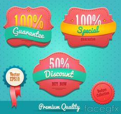 Beautifully colored sale tag vector