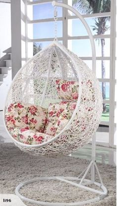 Swing Chair For Bedroom, Hammock Chair, Swinging Chair, Cake Wallpaper, Library Bookshelves, Woman Cave, First Apartment, Chairs For Sale, Welding Projects