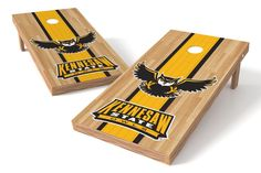 Kennesaw State Owls Cornhole Board Set - Court (w/Bluetooth Speakers)