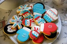 very cute winter cookies! (no recipe or instructions here)