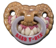 Chucklehead Toys - Baby T-Rex Pacifier, $5.99 (http://www.chuckleheadtoys.com/baby-t-rex-pacifier/)
