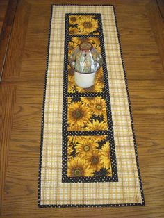 Beautiful Sunflower Quilted Table Runner by Creationsbyweezie, $35.00