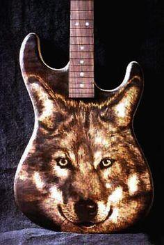 Custom Warmoth Guitar Pyrography
