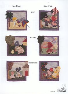 Sunbonnet Sue -Los meses del año- Patchwork and Quilting-Book - Yolanda… Sunbonnet Sue, Hand Applique, Applique Quilts, Girls Quilts, Baby Quilts, Quilting Designs, Embroidery Designs, Christmas Quilt Patterns, Doll Quilt