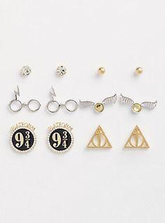 Harry Potter Earrings - Set of 6,