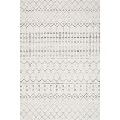nuLOOM Geometric Moroccan Beads Grey Rug (6'7 x 9') | Overstock.com Shopping - The Best Deals on 5x8 - 6x9 Rugs