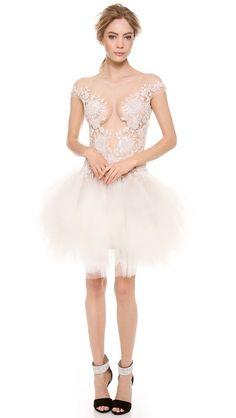 Reem Acra Beaded Cap Sleeve Dress $5,995.00