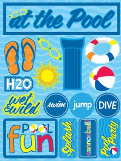 Karen foster design picnic collection cardstock for Pool design aufkleber