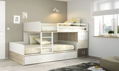 Bunk bed with wardrobe, drawers and desk. Spare Bedroom Office, Girls Bedroom, Bedroom Decor, Bunk Bed Rooms, Kids Bunk Beds, Bed With Wardrobe, Wardrobe Drawers, Brothers Room, Bunk Beds With Drawers