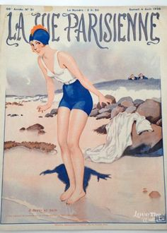 La Vie Parisienne was a French weekly magazine founded in Paris in known for its Art Nouveau and Art Deco illustrations. Vintage French Posters, Vintage Artwork, Vintage Illustrations, Old Magazines, Vintage Magazines, French Magazine, Art Deco Illustration, Art Deco Posters, Flappers