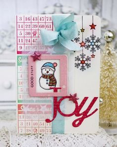 Joy Card by Melissa Phillips for Papertrey Ink (November 2015)