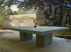 concrete cement table custom made Cement Table, Concrete Cement, Outdoor Furniture, Outdoor Decor, Tables, Stone, Magic, Club, Home Decor