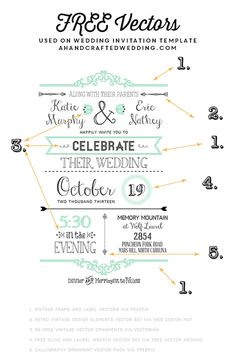 FREE Fonts to use on Rustic or Vintage Inspired Invitations + download a FREE Printable Wedding Invitation and Details Card | ahandcraftedwedding.com