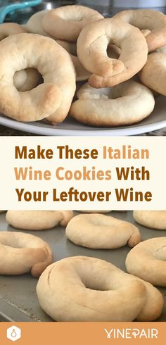 Just when you've tossed out the sweets, you see it: a half-consumed wine bottle from that last New Year's toast. Learn how to make cookies with it! {wineglasswriter.com/}