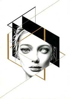 This illustration incorporates pencil, mechanical pencil, black and white pen as well as gold ink. The use of delicate lines combined with bold and heavy elements create a pleasing contrast within the image. Ink Illustrations, Illustration Art, Fashion Illustrations, Art Sketches, Art Drawings, Family First Tattoo, Designers Gráficos, Desenho Tattoo, Mechanical Pencils