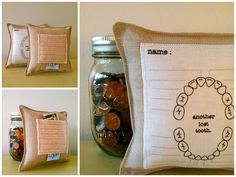 Tooth Fairy Ideas- tooth fairy pillow