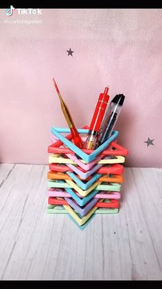 Diy Crafts For Home Decor, Diy Crafts Hacks, Diy Crafts For Gifts, Creative Crafts, Diy Projects, Cool Paper Crafts, Paper Crafts Origami, Diy Paper, Diy For Kids