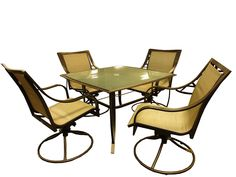 Rose Garden Patio Sedona Swivel Rocker Dining Set 5 Piece -- You can find more details by visiting the image link. (This is an affiliate link) #PatioFurnitureDIY