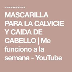 Tips Belleza, Body Care, Tapas, Hair Cuts, Youtube, Make It Yourself, Blond Hair Colors, Hair Smoothing, Fine Hair