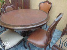 DUAS Mesa redonda de pé de galo com cadeiras a escolher Paredes - imagem 1