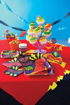 Great range of partyware for a #superhero party