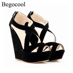 42.77$  Buy here - http://ali02a.shopchina.info/go.php?t=32797198518 - Begocool brand sandals women high heels 14cm wedges shoes for cheap fashion pumps zapatos mujer chaussure femme  #magazineonlinebeautiful