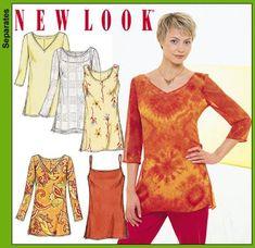 New Look 6086 Misses Tunic Tops