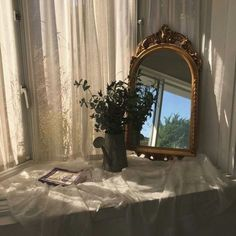 aesthetic, mirror, and plants image My New Room, My Room, Tyni House, Aesthetic Rooms, Aesthetic Fashion, Decoration Design, Bedroom Inspo, Design Bedroom, Room Inspiration