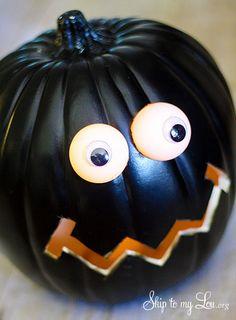 Pumpkin Carving DIY Lighted Eyes by @Skip to my Lou #MPumpkins